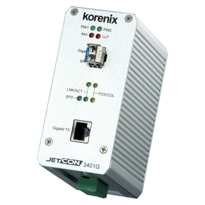 JetCon 3401G Industrial Gigabit Ethernet Media Converter